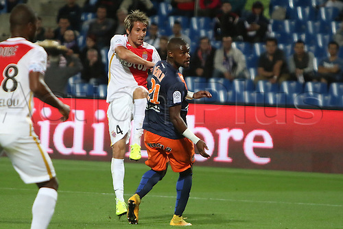 24.09.2015. Montpelier, France. French League 1 football. Montpellier versus AS Monaco.  monaco goal scored by fabio coentrao