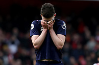 7th March 2020; Emirates Stadium, London, England; English Premier League Football, Arsenal versus West Ham United; A dejected Declan Rice of West Ham United after the 1-0 loss