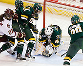 Mary Restuccia (BC - 22), Maggie Walsh (Vermont - 6), Shannon Bellefeuille (Vermont - 25), Kristen Olychuck (Vermont - 35), Lindsey Cashman (Vermont - 20) - The University of Vermont Catamounts defeated the Boston College Eagles 5-1 on Saturday, November 7, 2009, at Conte Forum in Chestnut Hill, Massachusetts.