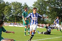 VOETBAL: DE KNIPE: 16-07-2013, Oefenwedstrijd SC Heerenveen - Leuven, Einduitslag 2-1, Stefan Savic scoort, ©foto Martin de Jong