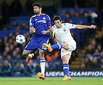 Chelsea's Diego Costa tussles with Porto's Ivan Marcano<br /> <br /> UEFA Champions League - Chelsea v FC Porto - Stamford Bridge - England - 9th December 2015 - Picture David Klein/Sportimage