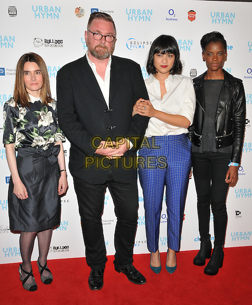 Shirley Henderson, Michael Caton-Jones, Isabella Laughland and Letitia Wright at the &quot;Urban Hymn&quot; gala film premiere, Curzon Mayfair cinema, Curzon Street, London, England, UK, on Tuesday 27 September 2016.<br /> CAP/CAN<br /> &copy;CAN/Capital Pictures