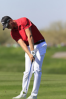Daniel Berger (USA) plays his 2nd shot on the 5th hole during Saturday's Round 3 of the Waste Management Phoenix Open 2018 held on the TPC Scottsdale Stadium Course, Scottsdale, Arizona, USA. 3rd February 2018.<br /> Picture: Eoin Clarke | Golffile<br /> <br /> <br /> All photos usage must carry mandatory copyright credit (&copy; Golffile | Eoin Clarke)