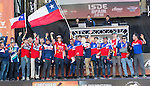Chile enduro team during the presentation of the FIM international six days of enduro 2016 in Pamplona, Spain. October 09, 2016. (ALTERPHOTOS/Rodrigo Jimenez)