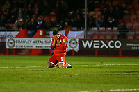 Frustration for Ollie Palmer of Crawley Town after a missed chance on goal during Crawley Town vs Bradford City, Sky Bet EFL League 2 Football at Broadfield Stadium on 11th January 2020