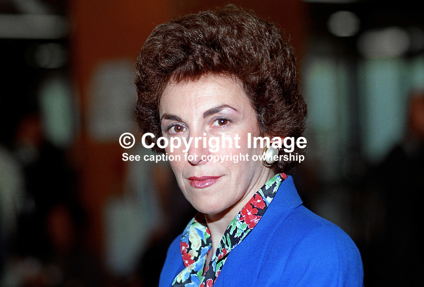 Edwina Currie, MP, Conservative Party, UK, taken annual conference. 19921064EC2.<br />