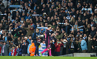 Lionel Messi of Barcelona leaves the field disappointed during the UEFA Champions League match between Manchester City and Barcelona at the Etihad Stadium, Manchester, England on 1 November 2016. Photo by Andy Rowland / PRiME Media Images.