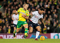 Norwich City's Teemu Pukki chases down Bolton Wanderers' Josh Magennis<br /> <br /> Photographer David Shipman/CameraSport<br /> <br /> The EFL Sky Bet Championship - Norwich City v Bolton Wanderers - Saturday 8th December 2018 - Carrow Road - Norwich<br /> <br /> World Copyright &copy; 2018 CameraSport. All rights reserved. 43 Linden Ave. Countesthorpe. Leicester. England. LE8 5PG - Tel: +44 (0) 116 277 4147 - admin@camerasport.com - www.camerasport.com