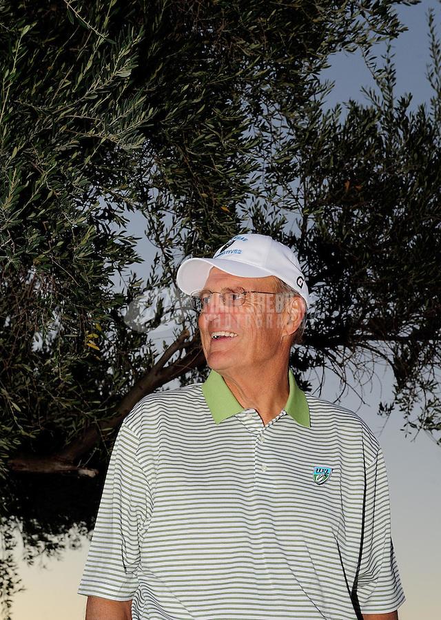 Sept. 24, 2009; Casa Grande, AZ, USA; UFL team owner Bill Hambrecht during a press conference at the Casa Grande Training Facility & Performance Institute. Mandatory Credit: Mark J. Rebilas-