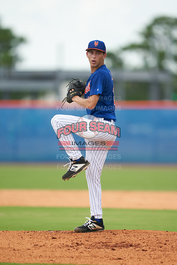GCL Mets starting pitcher Josh Wolf (16) during a Gulf Coast League game against the GCL Marlins on August 11, 2019 at St. Lucie Sports Complex in St. Lucie, Florida.  GCL Marlins defeated the GCL Mets 3-2 in the second game of a doubleheader.  (Mike Janes/Four Seam Images)