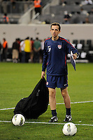 United States assistant coach Javier Perez. The men's national team of the United States (USA) was defeated by Ecuador (ECU) 1-0 during an international friendly at Red Bull Arena in Harrison, NJ, on October 11, 2011.
