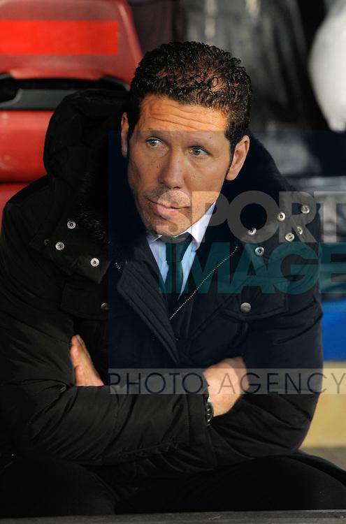 Diego Simeone manager of Atletico Madrid - UEFA Europa League Round of 32 - Atletico Madrid vs Rubin Kazam - Vincente Calderon Stadium - Madrid - 14/02/13 - Picture Simon Bellis/Sportimage