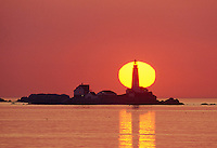 sunrise Boston lighthouse, Little Brewster Island, Boston Harbor, MA