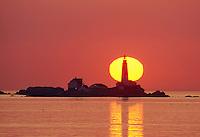 sunrise Boston lighthouse, Little Brewster Island, Boston Harbor, MA