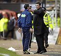 23/02/2008    Copyright Pic: James Stewart.File Name : sct_jspa16_dundeee_utd_v_falkirk.DUNDEE UTD MANAGER CRAIG LEVEIN IS HELD BACK BY FOURTH OFFICIAL SCOTT MACDONALD.James Stewart Photo Agency 19 Carronlea Drive, Falkirk. FK2 8DN      Vat Reg No. 607 6932 25.Studio      : +44 (0)1324 611191 .Mobile      : +44 (0)7721 416997.E-mail  :  jim@jspa.co.uk.If you require further information then contact Jim Stewart on any of the numbers above........