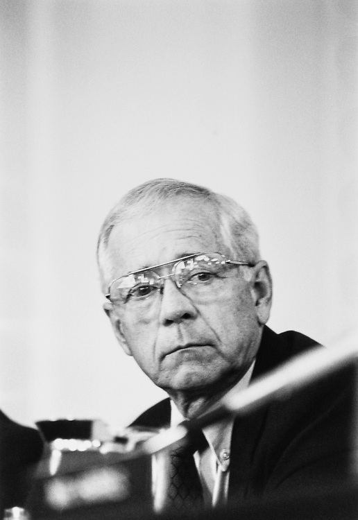 Rep. J. Roy Rowland, D-Ga., on July 23, 1991. (Photo by Maureen Keating/ CQ Roll Call)