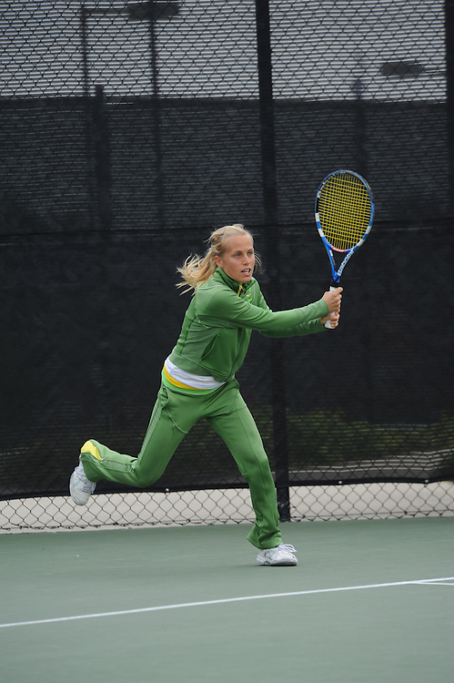 SAN DIEGO, CA - APRIL 24:  Cecilia Gratian of the USF Dons during the WCC Tennis Championships at the Barnes Tennis Center on April 24, 2010 in San Diego, California.