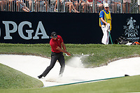Tiger Woods (USA) hits out of a sand trap on the 6th hole during the final round of the 100th PGA Championship at Bellerive Country Club, St. Louis, Missouri, USA. 8/12/2018.<br /> Picture: Golffile.ie | Brian Spurlock<br /> <br /> All photo usage must carry mandatory copyright credit (&copy; Golffile | Brian Spurlock)