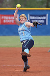 Centennial's Kate Rauskin pitches against Reed High School during the NIAA 4A softball championship tournament in Reno, Nev. on Thursday, May 16, 2012. Reed won 5-4. .Photo by Cathleen Allison