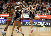 31.10.2013 Silver Fern Casey Williams in action during the Silver Ferns V Malawi during the New World Netball Series played at the Claudelands Arena in Hamilton. Mandatory Photo Credit ©Michael Bradley.