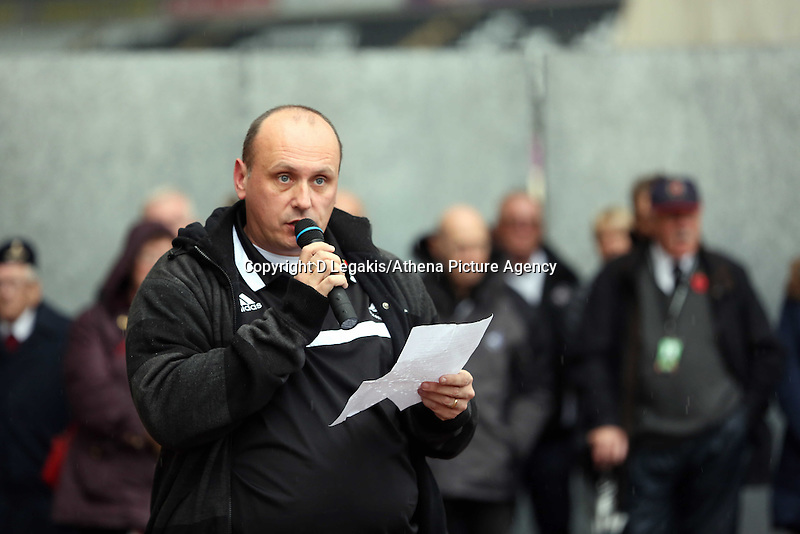 Pictured: Phil Sumbler, chairman of the Swansea City FC supporters' trust. Sunday 09 November 2014<br />