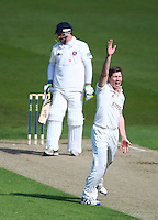 PICTURE BY VAUGHN RIDLEY/SWPIX.COM - Cricket - County Championship Div 2 - Yorkshire v Kent, Day 1 - Headingley, Leeds, England - 05/04/12 - Yorkshire's Richard Pyrah appeals for the wicket of Kent's Rob Key.