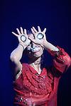 GUINTCHE<br /> <br /> Conception et interprétation : Marlene Monteiro Freitas<br /> Lumières : Yannick Fouassier<br /> Musique : Cookie<br /> Costumes (shorts) : Catarina Varatojo<br /> Compagnie : Bomba Suicida<br /> Cadre : Festival Uzes danse 2013<br /> Lieu : Salle de l'Eveche<br /> Ville : Uzes<br /> 15/06/2013<br /> © Laurent Paillier / photosdedanse.com