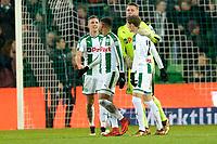 GRONINGEN - Voetbal, FC Groningen - PSV,  Eredivisie , Noordlease stadion, seizoen 2017-2018, 13-12-2017,   Groningen viert de 3-3 remise