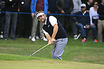 Jose Manuel Lara (ESP) chips onto the 1st green during the Final Day of the BMW PGA Championship Championship at, Wentworth Club, Surrey, England, 29th May 2011. (Photo Eoin Clarke/Golffile 2011)