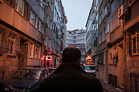 February 17, 2016: Omar (nickname) walks along one street in Aksaray, a neighbourhood located in the Fatih district of Istanbul. Omar, a Syrian national, is a middle man in the chain of smugglers that makes profit from the multibillionaire business taking refugees and migrants to the boarding point in Bodrum coastal town on their way to Europe.