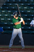 Patrick Biondi (5) of the Savannah Sand Gnats at bat against the Hickory Crawdads at L.P. Frans Stadium on June 15, 2015 in Hickory, North Carolina.  The Crawdads defeated the Sand Gnats 4-1.  (Brian Westerholt/Four Seam Images)