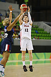 Asami Yoshida (JPN),  AUGUST 13, 2016 - Basketball : <br /> Women's Preliminary Round <br /> between Japan 79-71 France <br /> at Youth Arena <br /> during the Rio 2016 Olympic Games in Rio de Janeiro, Brazil. <br /> (Photo by Yusuke Nakanishi/AFLO SPORT)