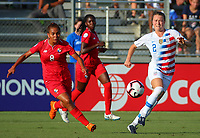 Cary, NC - October 7, 2018:  The USWNT defeated Panama 5-0 during the group stage of the 2018 CONCACAF Women's Championship at WakeMed Soccer Park.