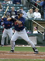 August 19, 2004:  Anthony Sanders of the Syracuse Sky Chiefs, Class-AAA International League affiliate of the Toronto Blue Jays, during a game at Frontier Field in Rochester, NY.  Photo by:  Mike Janes/Four Seam Images