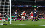 PSG's Marco Verratti scoring an own goal during the Champions League group A match at the Emirates Stadium, London. Picture date November 23rd, 2016 Pic David Klein/Sportimage