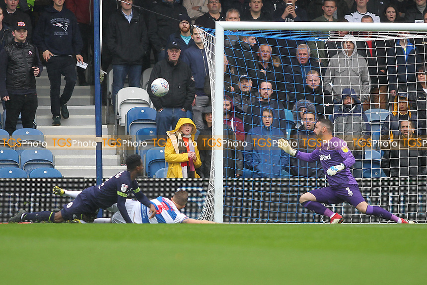 Jake Bidwell of Queens Park Rangers goes close to scoring during Queens Park Rangers vs Derby County, Sky Bet EFL Championship Football at Loftus Road Stadium on 6th October 2018