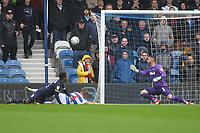 Jake Bidwell of Queens Park Rangers goes close to scoring during Queens Park Rangers vs Derby County, Sky Bet EFL Championship Football at Loftus Road Stadium on 6th October 2018