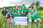 The Castleisland soccer team who defeated Listowel Celtic in the Denny Premier 'A' League Final Replay to win it for the first time since 1978 at  Mounthawk Park, Tralee on Sunday.