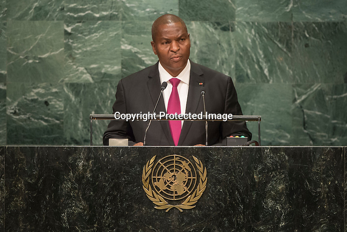Central African Republic<br /> H.E. Mr. Faustin Archange Touadera<br /> President<br /> <br /> <br /> General Assembly Seventy-first session, 17th plenary meeting<br /> General Debate
