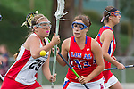 Redondo Beach, CA 05/14/11 - Brittany Ross (Redondo Union #29) and Allie Conrad (Los Alamitos #13)in action during the 2011 US Lacrosse / CIF Southern Section Division 1 Girls Varsity Lacrosse Championship, Los Alamitos defeated Redondo Union 17-5.