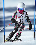 LEAD, SD - JANUARY 31, 2016 -- Lily Schad of the Black Hills Ski Team works through the slalom in the U10 category during the 2016 USSA Northern Division Ski Races at Terry Peak Ski Area near Lead, S.D. Sunday. (Photo by Richard Carlson/dakotapress.org)