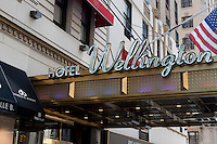 Hotel Wellington is pictured in the New York City borough of Manhattan, NY, Tuesday August 2, 2011.