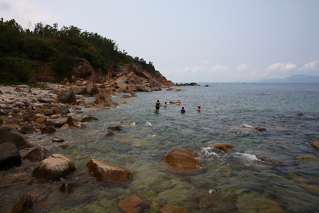 Swimmers near Quy Nhon, Vietnam. April 28, 2016.