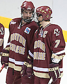 Brett Motherwell, Peter Harrold - The Boston College Eagles defeated the University of North Dakota Fighting Sioux 6-5 on Thursday, April 6, 2006, in the 2006 Frozen Four afternoon Semi-Final at the Bradley Center in Milwaukee, Wisconsin.
