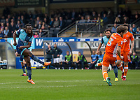 Marcus Bean of Wycombe Wanderers during the Sky Bet League 2 match between Wycombe Wanderers and Blackpool at Adams Park, High Wycombe, England on the 11th March 2017. Photo by Liam McAvoy.