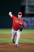 Boston Red Sox relief pitcher Steven Wright (35) delivers a pitch during a Spring Training game against the Minnesota Twins on March 16, 2016 at Hammond Stadium in Fort Myers, Florida.  Minnesota defeated Boston 9-4.  (Mike Janes/Four Seam Images)