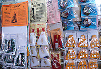 Amulets, talismans, and other good luck charms for sale in the market, city of Veracruz, Mexico