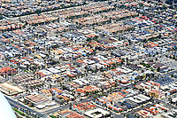 Aerial view Long Beach California
