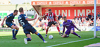 Lincoln City's Jack Payne under pressure from Bristol Rovers' Anssi Jaakkola<br /> <br /> Photographer Chris Vaughan/CameraSport<br /> <br /> The EFL Sky Bet League One - Lincoln City v Bristol Rovers - Saturday 14th September 2019 - Sincil Bank - Lincoln<br /> <br /> World Copyright © 2019 CameraSport. All rights reserved. 43 Linden Ave. Countesthorpe. Leicester. England. LE8 5PG - Tel: +44 (0) 116 277 4147 - admin@camerasport.com - www.camerasport.com