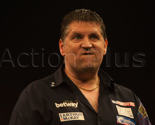 07.04.2016. The Sheffield Arena, Sheffield, England. Betway PDC Premier League Darts. Night 10.  Gary Anderson [SCO] shows emotion during his game against Phil Taylor [ENG]